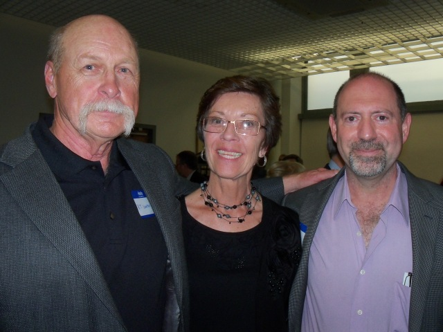 R.T. Lawton, Kiti Lawton, and Steve Steinbock at the Dell pre-Edgars cocktail party. (Photo courtesy of Steve Steinbock.)