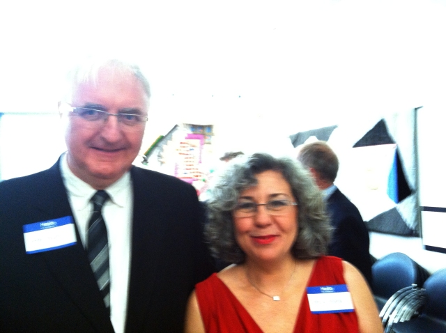 Peter Bush and Teresa Solana. (Photo courtesy of Abby Browning.)