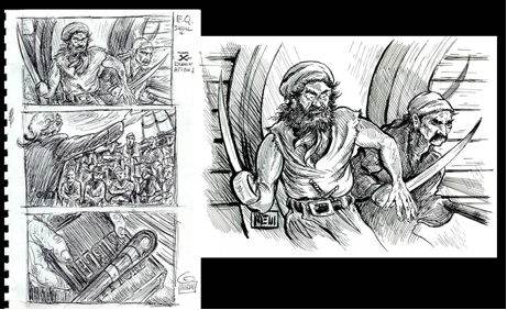 "Sketches to Final Art for ""Skull and X-Examinations"" by Toni L.P. Kelner"