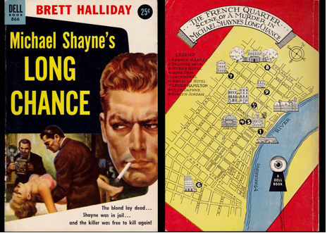 "Cover by Robert Stanley and an earlier Dell ""Map Back"" of the same story from the forties"