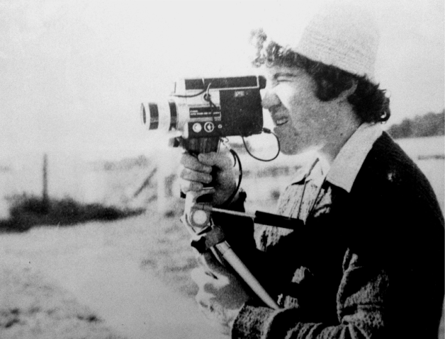 Stephen Ross with movie camera, age fifteen.