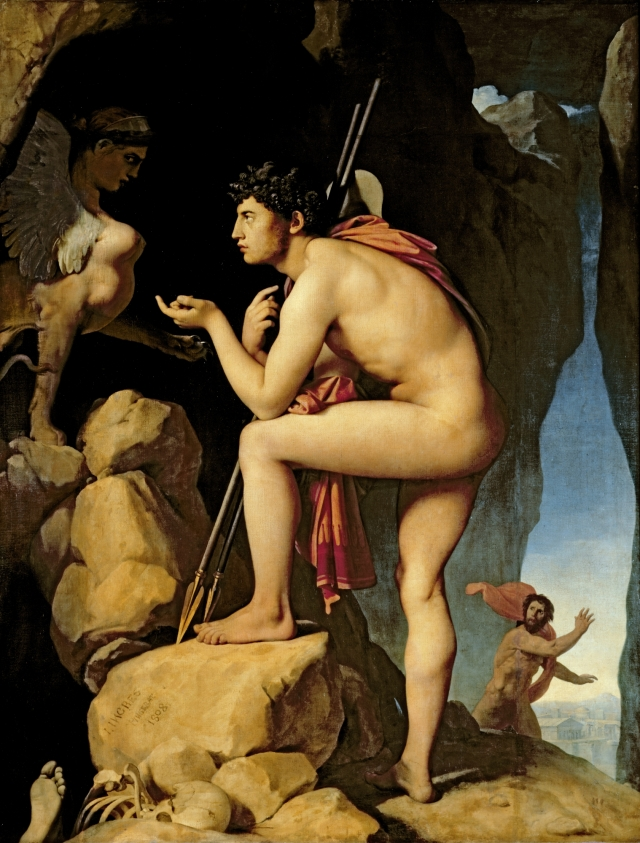 Oedipus and the Sphinx (1808) by Jean-Auguste-Dominique Ingres