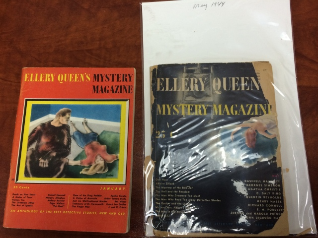 Covers of EQMM, January 1945 and May 1944.