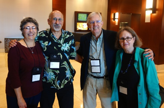 from L to R: Linda Landrigan, Josh Pachter, Bill Crider, and Janet Hutchings. Photo courtesy of Josh Pachter.