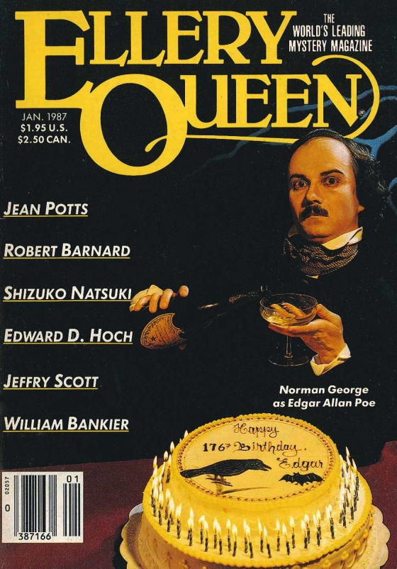 Cover of EQMM, January 1987